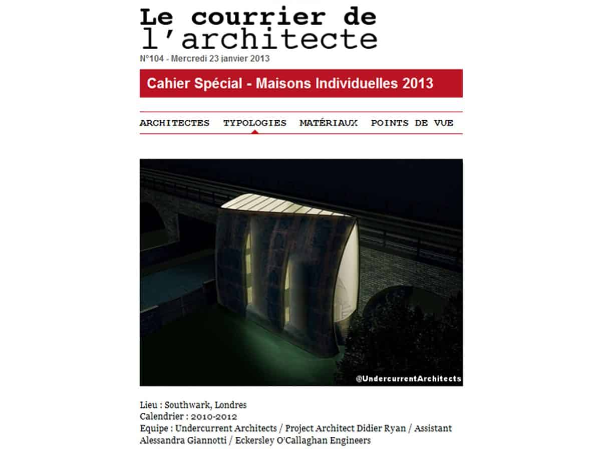 Interview with Le courrier de l'architecte, France